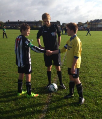Respect - Castle Combe Colts vs Pewsey Vale U14 Captain handshake